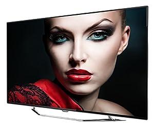 Thomson 55UZ8766 LED-Backlight Fernseher (3D, Ultra HD, 200Hz CMI, DVB-T2/C/S2, CI+, 3x HDMI 2.0, 3x USB 2.0, Smart TV, HbbTV, Miracast, DLNA, WLAN) inkl. 2x Aktiv 3D-Brille Edelstahl/schwarz