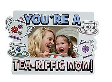 Paper Color Your Own Tea-Riffed Picture Frames - 1 Dozen - 1