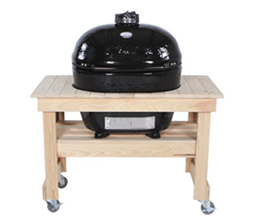 Primo 602 Compact Cypress Wood Table for Primo Oval XL Grill, 4 Wheels (Cypress Grill compare prices)