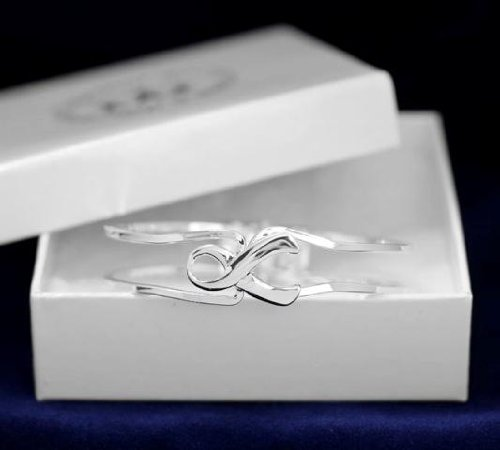 Silver Ribbon Bracelet-Silver Clasp (18 Bracelets)