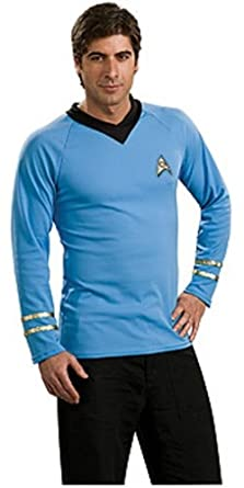 Star Trek Classic Deluxe Blue Shirt, Adult Medium Costume