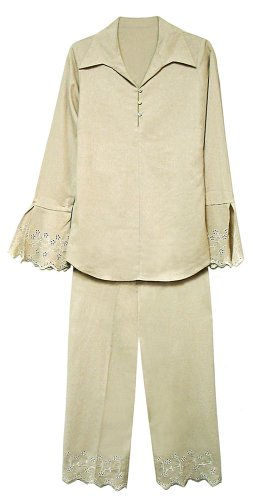 Buy Get $20.00 Off on All Orders Over $80.00. — Linen/Rayon Capri Pants Set. MISSY_SIZES