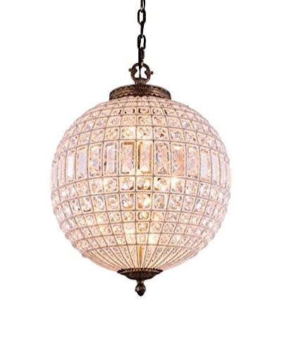 Urban Lights Olivia 4-Light 25.5 Floor Lamp, French Gold/Royal Cut Crystal