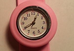 Pink Fancy Slap Watch Teen or Adult Sized by Slapem
