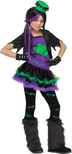 Tween Girl's Funkie Frankie Costume: Child's Frankenstein Halloween Costume