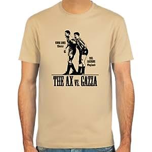 T-Shirt Paul Gascoigne vs. Vinnie Jones ::: Farbauswahl: skyblue, sand, weiß oder deepred ::: Größen: S-XXL ::: Fußball-Kult
