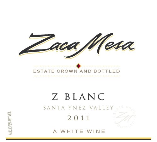 2011 Zaca Mesa Winery Z-Blanc Santa Barbara County, Santa Ynez Valley 750 Ml