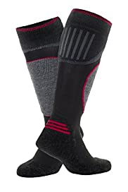 Contrast Panel Ski Socks with Wool