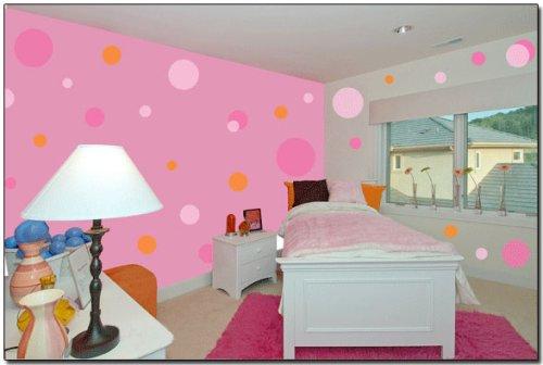 Nursery D  cor  Pink Jumbo Polka Dot Wall Transfer Stickers Mural