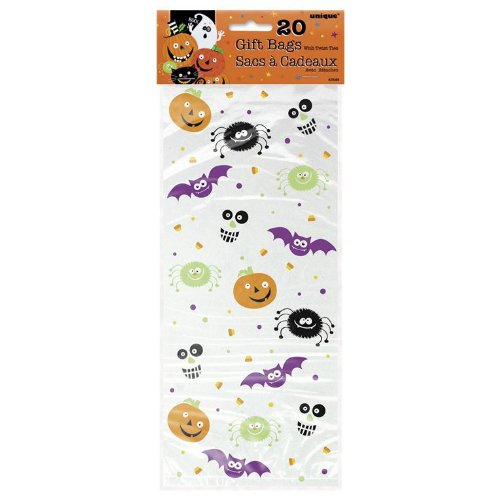 Spooky Smiles Halloween Cello Bags 20 Pack