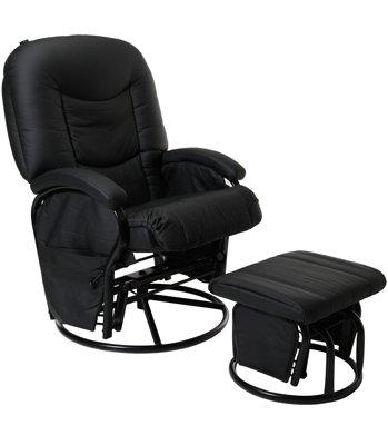 NOIR (Black) Couture Cloud Nine Nursing Chair And Stool