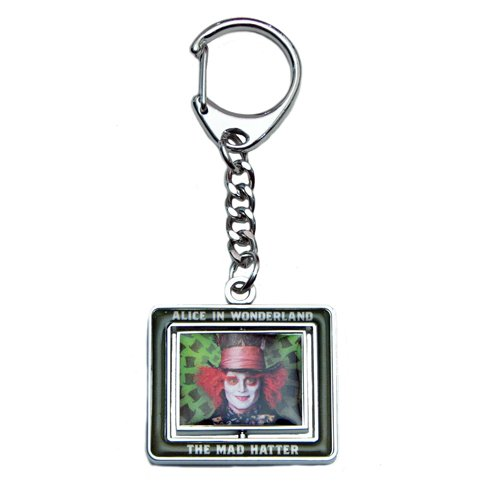 Disney Spinner Key Ring - Mad Hatter and Rabbit