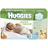 Huggies Pure and Natural Diapers, Size 1, 174 Count (Discontinued by Manufacturer)