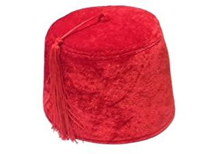 Red Fez with Red Tassle Hat