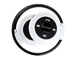 Mini 503 Stereo Bluetooth Headset Wireless Headphones Neckband Style Earphone (White)