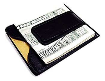 Fine Leather Magnetic Money Clip Wallet by Tapp Collections