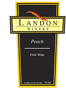 NV Landon Winery Peach Fruit Wine, Texas 750 mL
