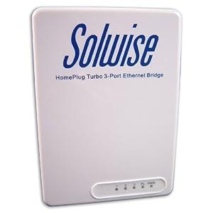 Solwise 3-Port 85Mbps Homeplug Ethernet Adapter