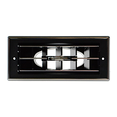 Cary RV/Auto Dash Air Vent Louver Assembly - Black with Silver Trim (Rv Vent Assembly compare prices)