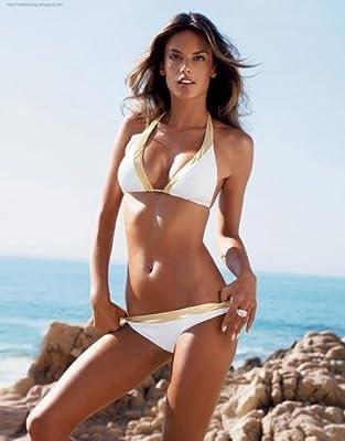 Alessandra Ambrosio Poster White Bikini 24x36