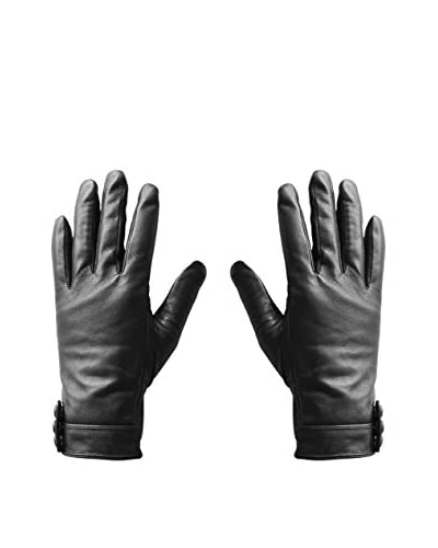 hi-Fun  Guantes Para Tablet Y Smartphone Hi-Glove Leather Wom Small Negro