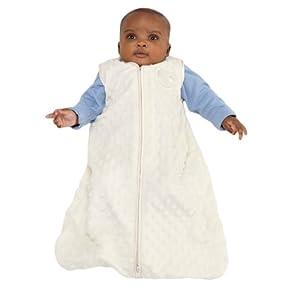 HALO SleepSack Wearable Blanket, Velboa, Cream Plush Dots, Large
