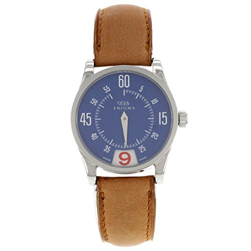 Enigma by Gianni Bulgari 115201S Blue Dial & Red Date Ladies Watch