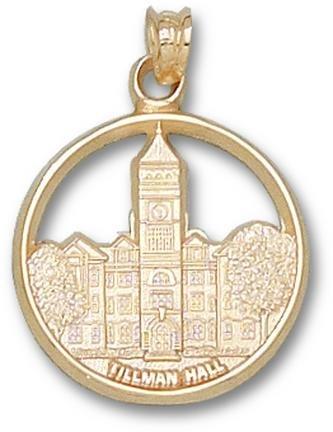 Clemson Tigers Tillman Hall Pendant - 14KT Gold Jewelry by Logo Art