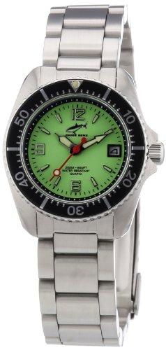 Chris Benz CBL.N.MB.SW - Reloj analógico de cuarzo para mujer con correa de acero inoxidable, color plateado