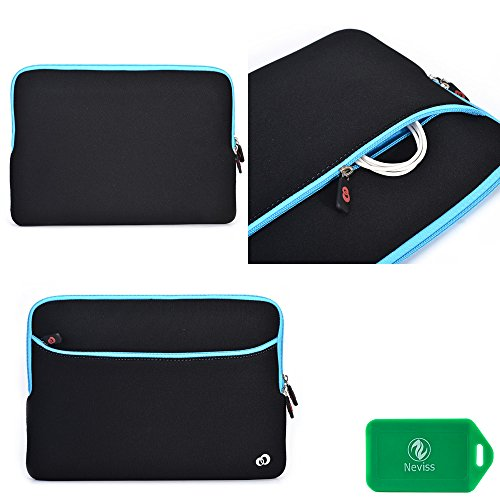 MSI X350laptop computer sleeve with casing pocket- universal fit in black/baby unhappy
