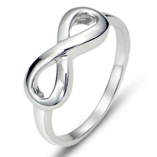 925 Sterling Silver Infinity Symbol Wedding Band Ring, Limited time offer at special price