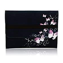 """buy Macbook Pro 15"""" Case / Apple Macbook Air 15 Inch Felt Sleeve Retina Display - Laptop Carry Bag Notebook Cover Ultrabook Accessory Red Flowers Butterflies Designer Print Protection From Soft Felt"""