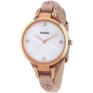 Fossil Women's ES3151 Georgia Analog Display Analog Quartz Beige Watch