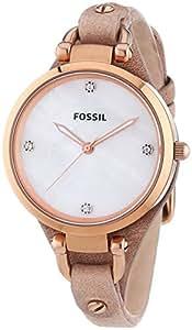 Fossil - ES3151 - Montre Femme - Quartz Analogique - Bracelet Cuir Beige