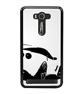 Luxury car 2D Hard Polycarbonate Designer Back Case Cover for Asus Zenfone Selfie ZD551KL