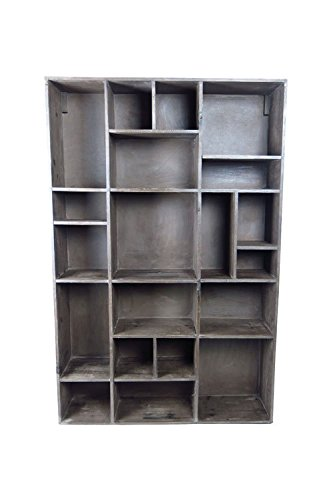 Vagabond Vintage, Wall Cubby in Recycled Pine with 20 Compartments (Vintage Bookshelf compare prices)