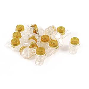 15 Pieces Air Tight Orange Clear Button Cable UY Butt Splice Connector