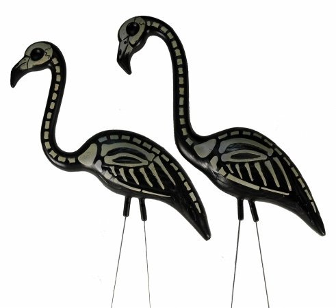 Skel-a-Flamingo (Skeleton) Set of Two Halloween Accessory