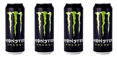 Monster Energy Drink 16.9 Fluid Ounce (500ml) Packages (Pack of 4) [ Italian Import ] (Monster Energy Mega compare prices)