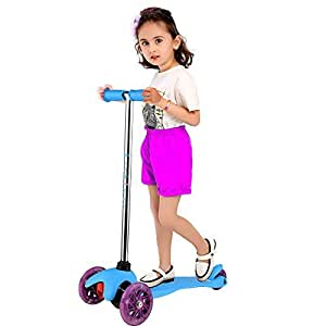 Arshiner Folding Lighting 3 Wheels Aluminum Kickboard Kick Scooter For Little Kids available at Amazon for Rs.6955