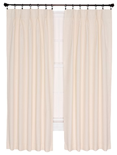 Ellis Curtain Crosby Thermal Insulated 144 By 84 Inch Pinch Pleated Foamback Curtains Natural