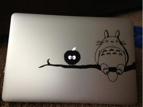 MacBook 対応 アートステッカー 隣のトトロ 並行輸入品