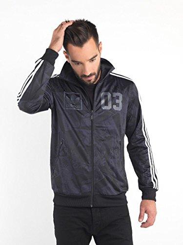Men's Adidas Originals 3 Foil Street Track Top Jacket Black/White S06990 Size M (Adidas Vintage Jacket compare prices)