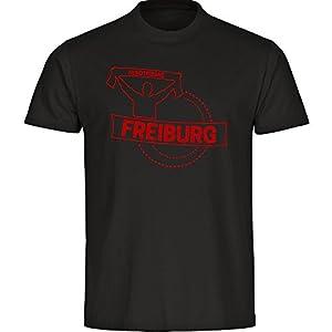 T-Shirt Rundhals Fankurve Freiburg schwarz Kinder Gr. 128 bis 176