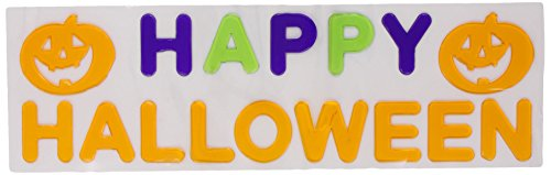 1 X Amscan Happy Halloween Gel Clings - 1