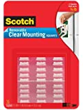 Scotch Mounting Squares Removable, 1 x 1 Inch, Clear (859-MED)