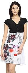 Texco Garments Women's A-Line Dress (30, Black and White, XL)