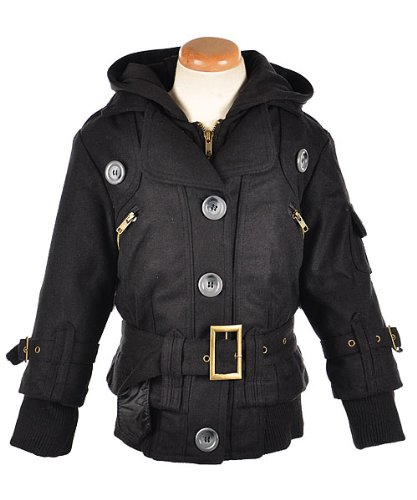"Beverly Hills Polo Club ""Foley"" Hooded Motorcycle Jacket (Sizes 7 - 16) - black, 7/8"
