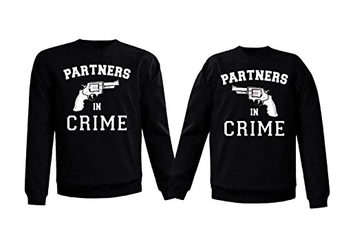 Couple Sweatshirts - Partners in Crime - Matching Love Sweatshirts partners cd