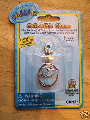 Webkinz Collectible Charm Hippo Cameo - 1